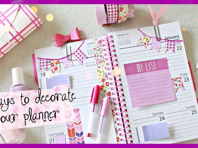5 AFFORDABLE WAYS TO DECORATE YOUR PLANNER | #PlanningWithBelinda