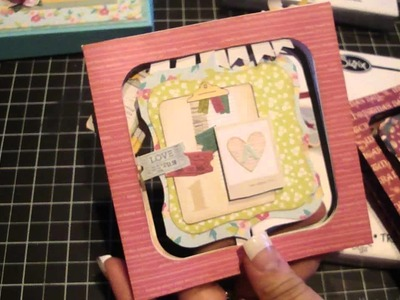 Accordian Flip 3D Mini Album and Box.Tutorial