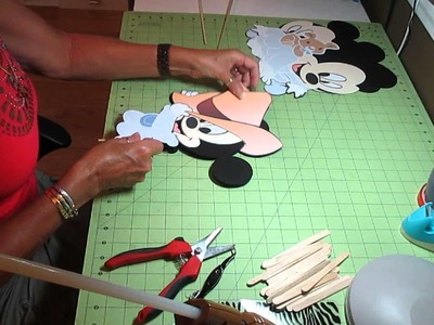 Baby mickey mouse centerpieces