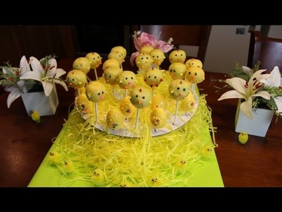 Cake Pops - How to make Easter Chick Cake Pops