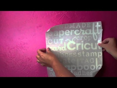 Cricut Episode 286 - Vinyl Wall Art with My Pink Stamper