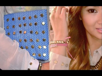 DIY: Faux Studded Blouse & Bag Office Supply?!
