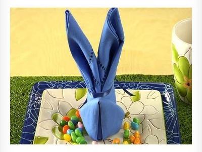 Easy Napkin Design - Bunny Napkin Fold