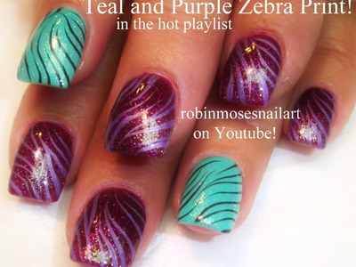 Easy Zebra Print Nail Art Design Tutorial