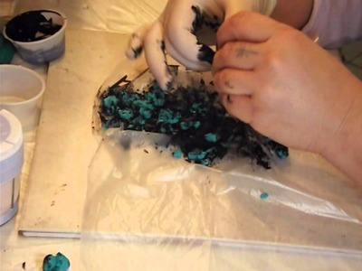 Faux Turquoise polymer clay tutorial - Part 1