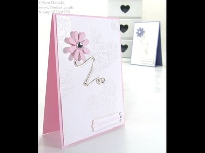 Flowerfull Heart Wirework Card by Stampin' Up! UK Independent Demonstrator Pootles