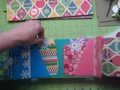 Gate(faux)ld Paper Bag Mini Album Christmas Kit