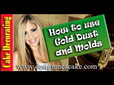 Gold Highlighters and Molds for Cake Decorating