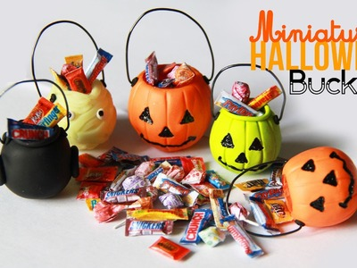 Halloween Bucket Charms - Miniature Candy with Polymer Clay