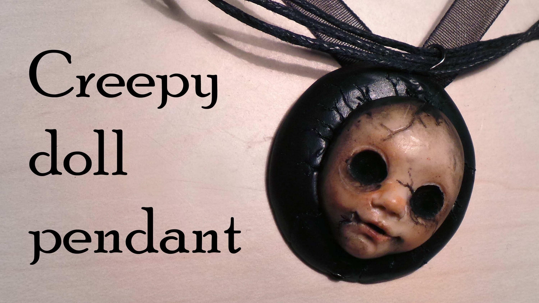 Halloween; Polymer Clay Creepy Doll Charm