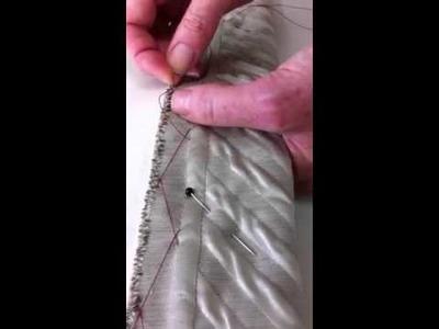 Herringbone stitch demonstration