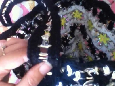 How To Add Handles To A Pop Tab Purse. Bag