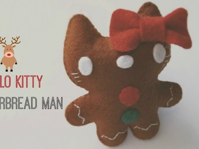 How To Make A Hello Kitty Gingerbread Man Ornament Plushie Tutorial