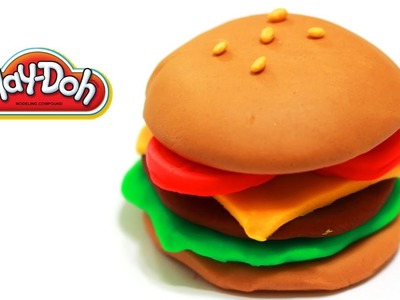 "How to Make a Playdoh Burger ""Yum~"""