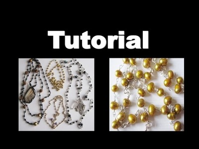 How to make a Wire Wrap Chain Necklace  | Liz Kreate