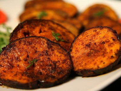 How To Make Best Fried Brinjal By Archana
