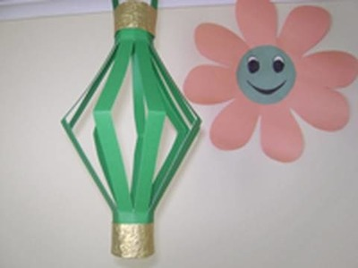 How to make construction paper decorative Paper Lamp - EP