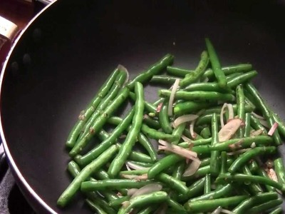 How To Make Garlic Sauteed String Bean