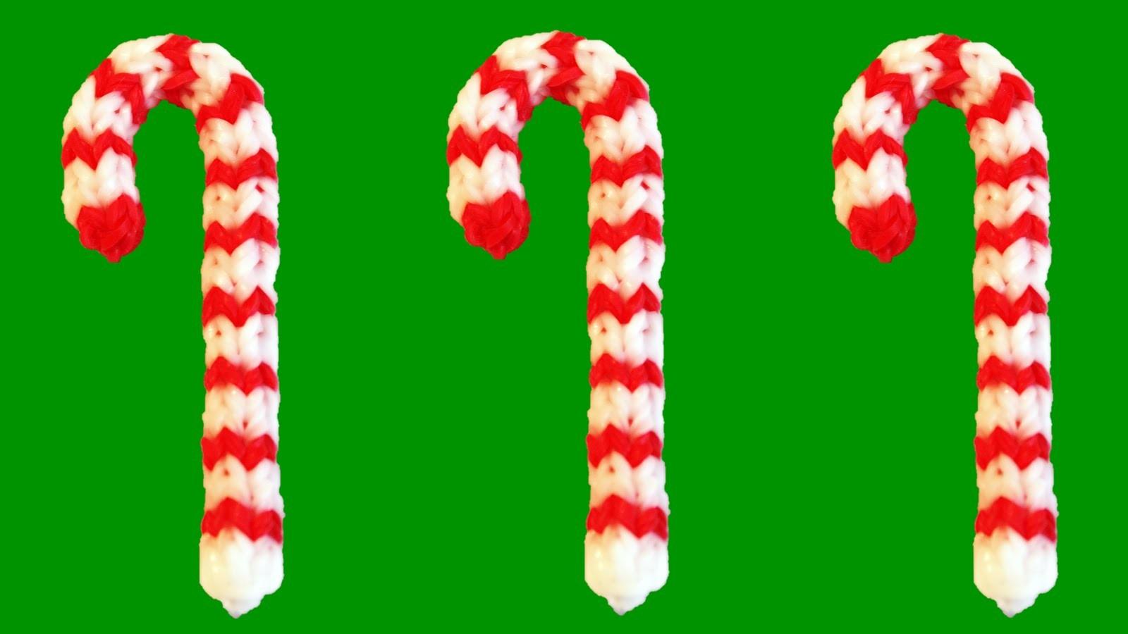 How to Make Loom Bands Christmas Candy Cane Rainbow Loom Christmas Charms