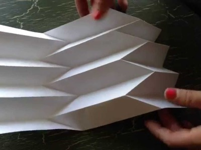 How to make paper art: the Reverse folded paper