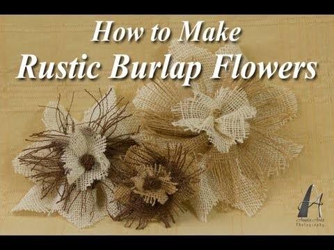 How to Make Rustic Burlap Flowers