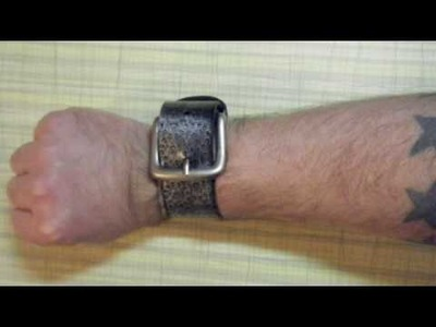 How To Make Super Easy Recycled Fashion One Minute Belt Cuffs