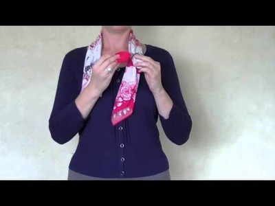 How to tie a scarf in a criss cross knot