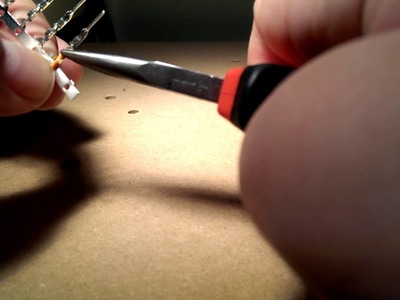 Installing Crimp Pins with Needle Nose Pliers