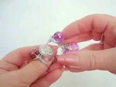 JEWELRY MAKING, How to make a BLING RING, wire wrapped ring.