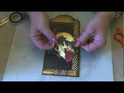Lets Make Series 8  - Video 1 A Halloween tag and some fussy cutting