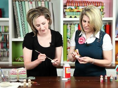 Liz Evans shows how to make Peg People