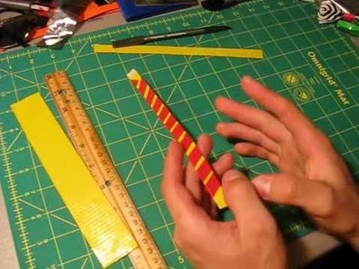 Mini tutorial - Duct tape bracelets.wristbands