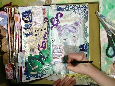 One Minute Art Journal Page ~ Wonder Unlimited