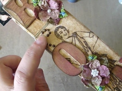 Personalized Clothespin and Starburst Stain Flower.Leaf Tutorial