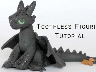 Polymer Clay: Toothless Dragon from How To Train Your Dragon
