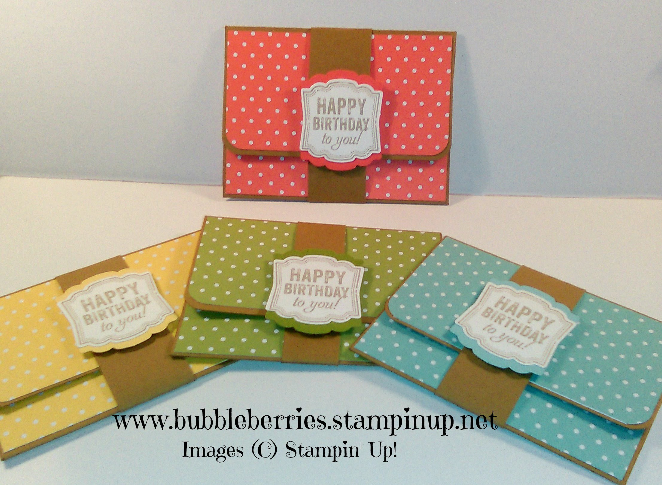 Quick and Easy Gift Card.Money Wallet using Stampin' Up!
