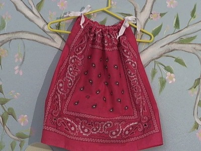 Quick n easy to sew bandana dress. blouse-  Summer dress. shirt