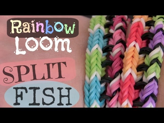 Rainbow Loom : Split Fish Bracelet - Original Design - How To