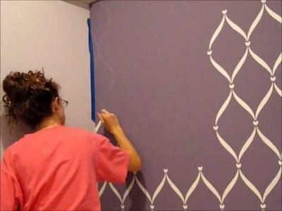 Rose'sRoom: Stenciling my wall