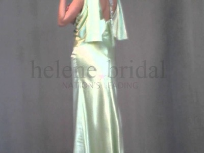 Sheath Bateau Long Artificial Silk Mother of The Bride Dress - Style MD5957 - HeleneBridal.com