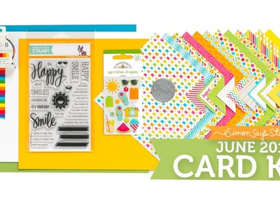Simon Says Stamp June 2015 Card Kit Reveal!