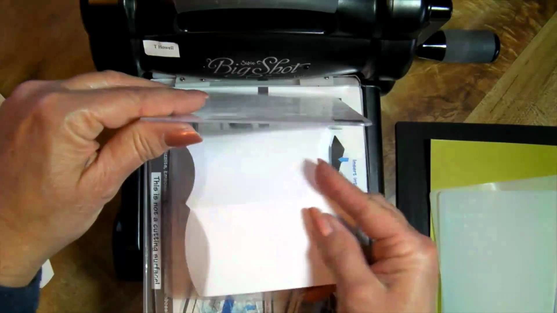 Sizzix Pillow Box Die-How to cut 4 shapes from 1 card stock