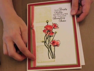 Studio SN: Card Making with a Distress Press Technique