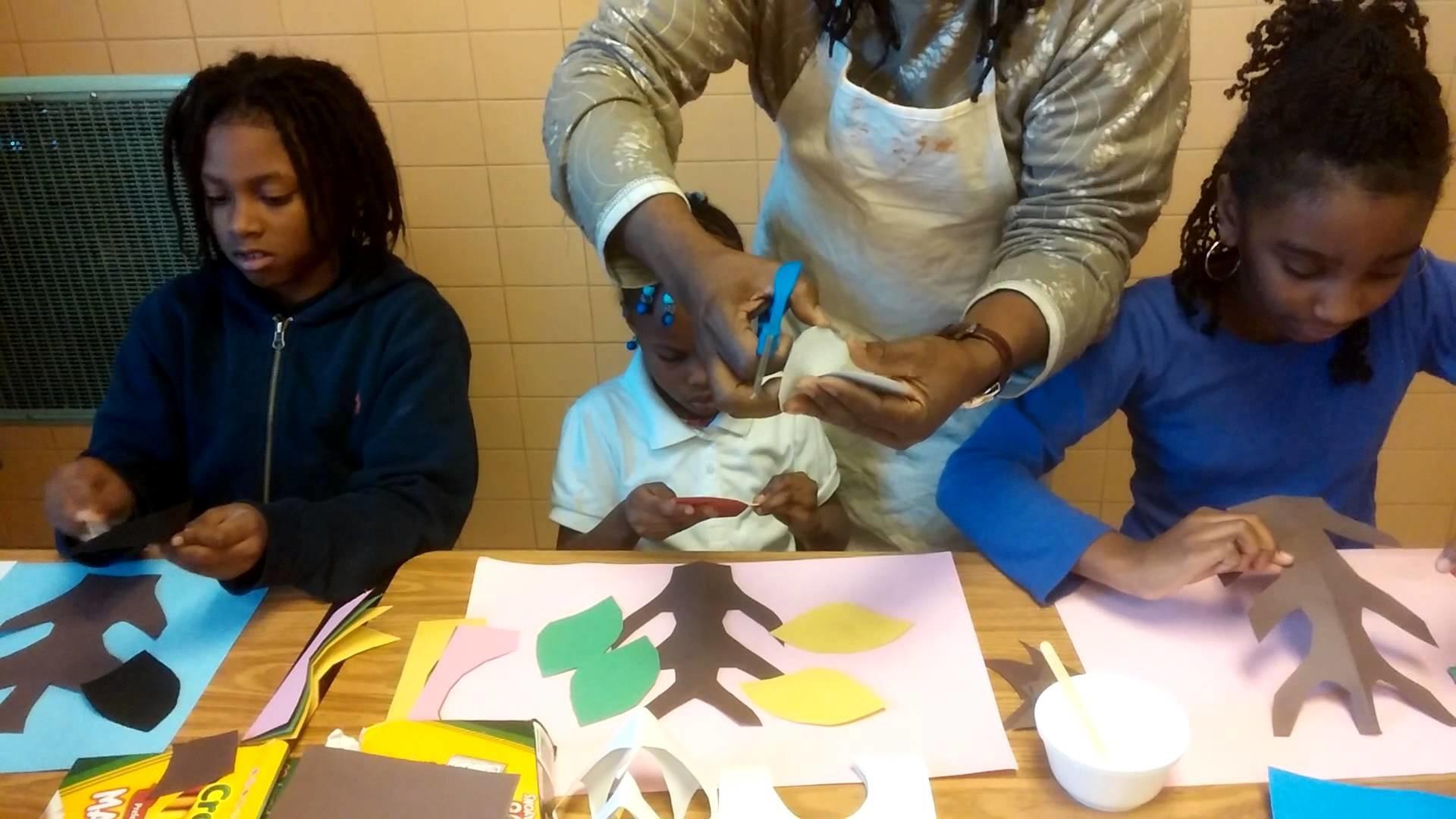 TEACHING KIDS TO MAKE A FAMILY TREE,SIR JAMES L. THORNHILL 2014 CHIMBORAZO ELEMENTRY SCHOOL