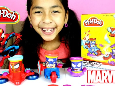 Tuesday Play Doh Marvel Can Heads Spider-Man Captain America & Venom| B2cutecupcakes