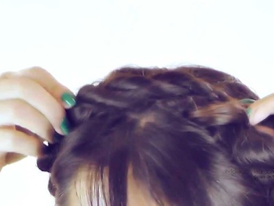 ★UNICORN HAIR TUTORIAL | CUTE HAIRSTYLES ROPE MILKMAID BRAID  | BRAIDED UPDO FOR MEDIUM LONG HAIR