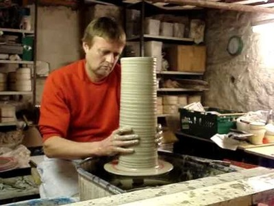 Attempting to make. throw my biggest clay pottery vase ever