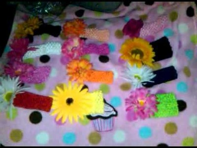 Baby flower headbands for sale :)