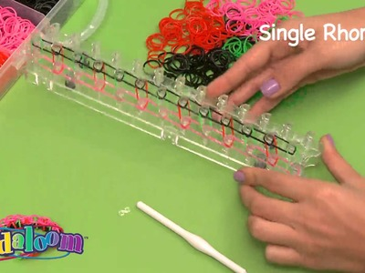 Bandaloom: How to make a Single Rhombus Bracelet