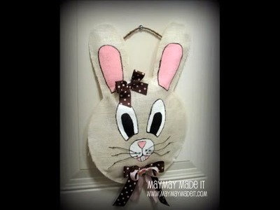 Burlap Bunny Wall or Door Hanging